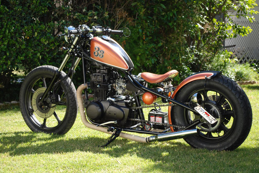 1979 Kz 400 Bobber Chappell Customs