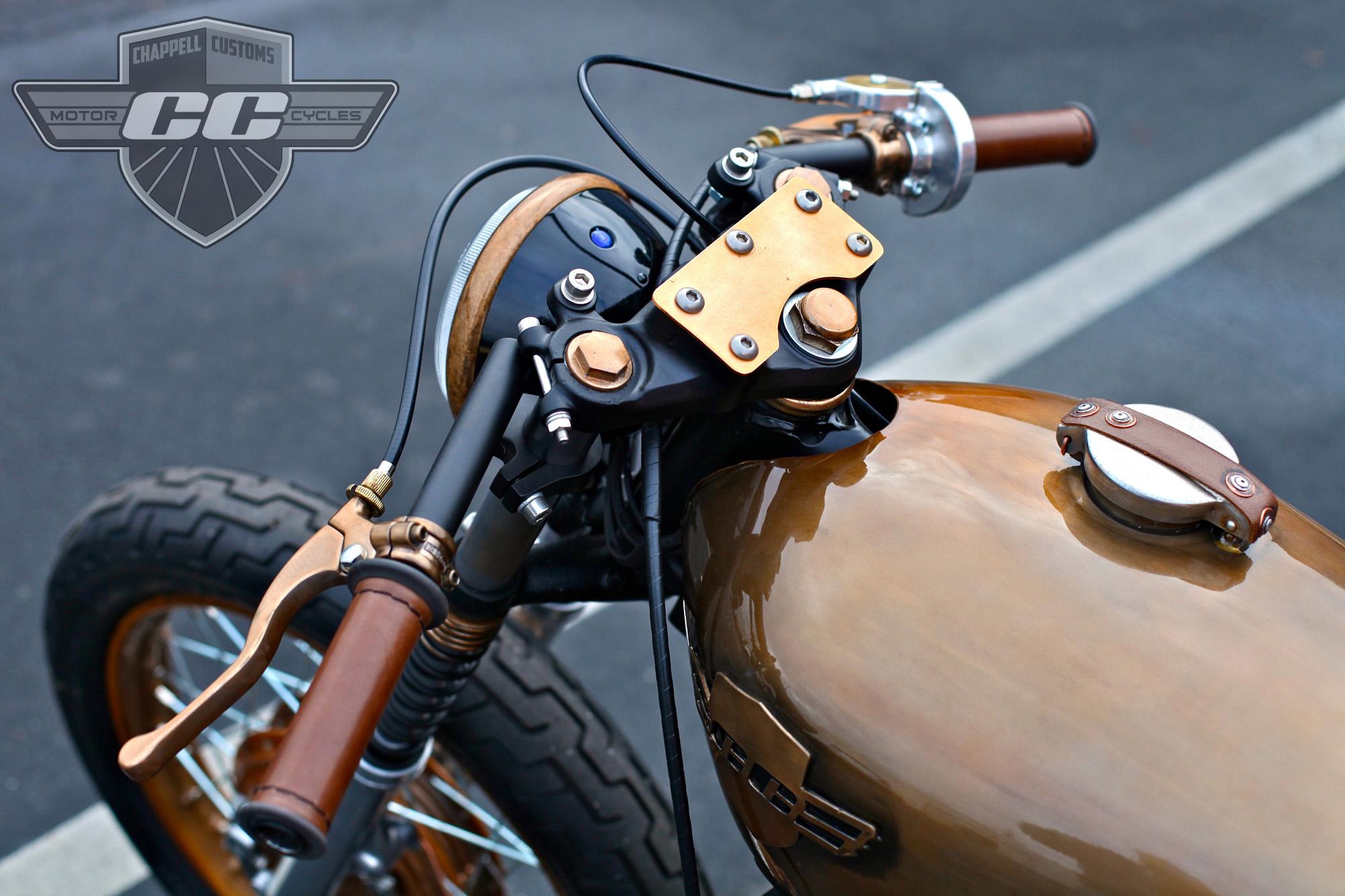 Copper (Steampunk) Honda CB350 Cafe. 1972 CB350