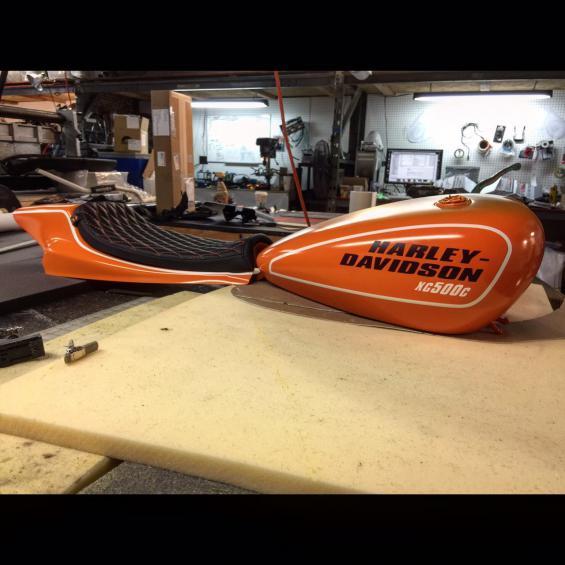 Bartels' Harley Davidson Dirt Track Project update 2…